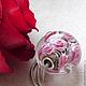 Для украшений ручной работы. Кулон-шар в стиле Пандора Розовый Сад. Виктория Гусева lampwork. Интернет-магазин Ярмарка Мастеров.