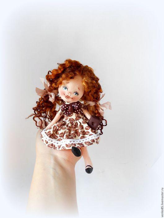 Коллекционные куклы ручной работы. Ярмарка Мастеров - ручная работа. Купить Чудо на ладошке Кофе с шоколадкой подарок кофеману кофейная тематика. Handmade.