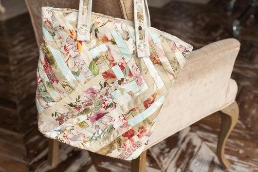 Женские сумки ручной работы. Ярмарка Мастеров - ручная работа. Купить Летняя лоскутная сумка. Handmade. В полоску, пэтчворк
