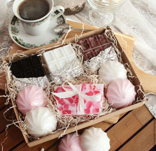 Мыло ручной работы. Ярмарка Мастеров - ручная работа. Купить ЗЕФИР И ШОКОЛАД - большой набор мыльных сладостей. Handmade.