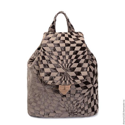 Рюкзак из ткани `Графика`, сумки и рюкзаки ручной работы, автор Petrakova Zhanna Atelier Moscow
