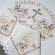 Венчальный набор. Венчальный рушник:  45 x 200 см. Салфетка (2 шт.): 26 x 26 см.