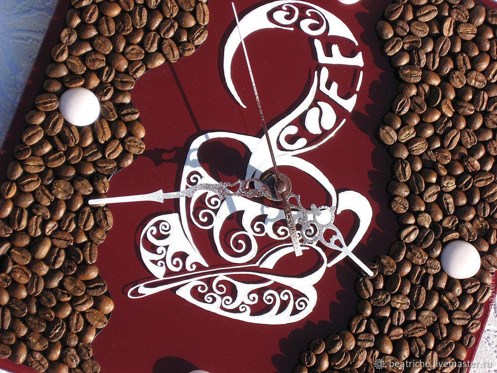 многие постер из кофейных зерен счастлив