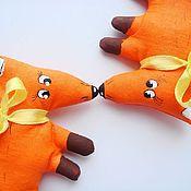 Куклы и игрушки ручной работы. Ярмарка Мастеров - ручная работа Текстильный магнитик. Лиса.. Handmade.