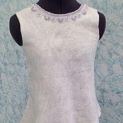 Одежда ручной работы. Ярмарка Мастеров - ручная работа Валяная туника Белая белая. Handmade.