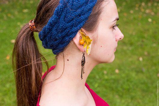 Повязки ручной работы. Ярмарка Мастеров - ручная работа. Купить Повязка на голову ThunderStorm Headband. Handmade. Комбинированный, полушерсть