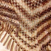 """Аксессуары ручной работы. Ярмарка Мастеров - ручная работа Шаль """"Карамель с шоколадом"""". Handmade."""