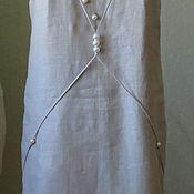 """Одежда ручной работы. Ярмарка Мастеров - ручная работа Платье из льна """"Бусинка"""".. Handmade."""