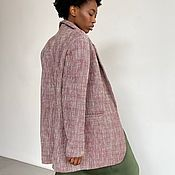 Одежда handmade. Livemaster - original item The oversized jacket pink melange. Handmade.