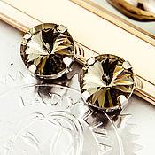 Материалы для творчества handmade. Livemaster - original item Crystals are the Premium in the socket 14mm Rivoli 1122 Black Diamond. Handmade.