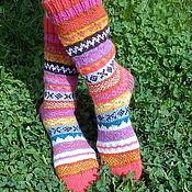 Аксессуары handmade. Livemaster - original item Socks tweed yarn jacquard pattern. Handmade.