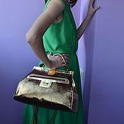"""Сумки и аксессуары ручной работы. Ярмарка Мастеров - ручная работа Саквояж """"бронзовый средний"""". Handmade."""