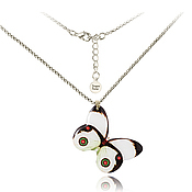 Украшения handmade. Livemaster - original item White decoration on chain butterfly