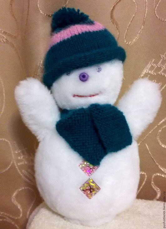 """Народные куклы ручной работы. Ярмарка Мастеров - ручная работа. Купить мягкая игрушка """"Снеговик"""". Handmade. Белый, розовый"""