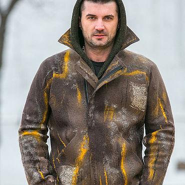 """Одежда ручной работы. Ярмарка Мастеров - ручная работа Куртка мужская """" Милитари"""" , валяние, одежда из войлока. Handmade."""