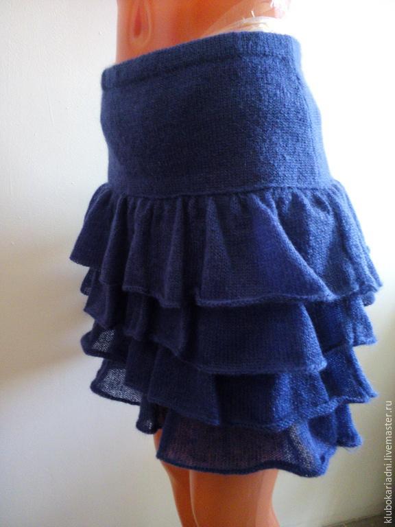 Вязание юбок с воланом