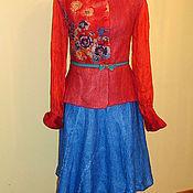 """Одежда ручной работы. Ярмарка Мастеров - ручная работа Валяный жакет   """"Незабываемый"""" красный. Handmade."""
