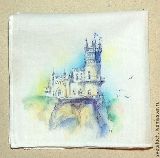 Носовые платочки ручной работы. Ярмарка Мастеров - ручная работа. Купить Прекрасный маленький дворец.... Handmade. Домик, замок, подарок