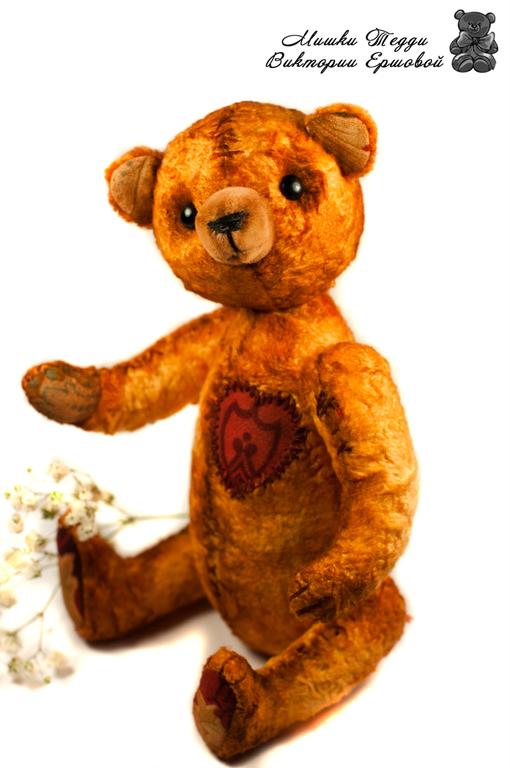 """Мишки Тедди ручной работы. Ярмарка Мастеров - ручная работа. Купить Мишка Тедди """"Счастливчик"""". Handmade. Оранжевый, состаренный мишка"""