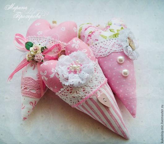 """Куклы Тильды ручной работы. Ярмарка Мастеров - ручная работа. Купить Сердечки Тильда """"Розовая нежность"""". Handmade. Розовый"""