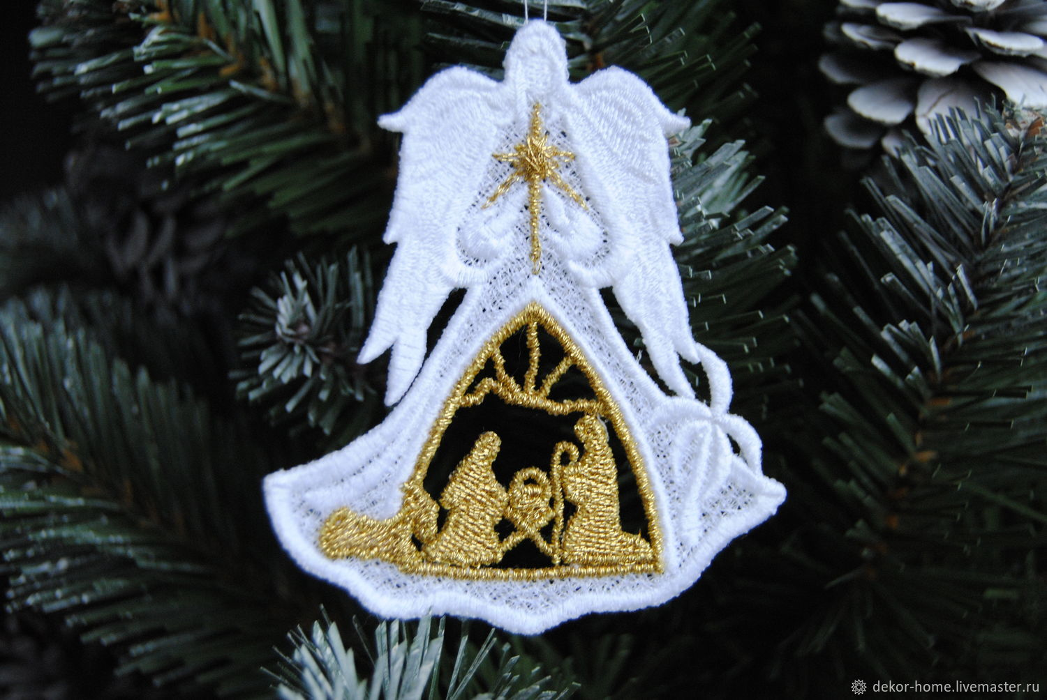 Christmas angel with Nativity scene, Christmas decorations, Moscow,  Фото №1