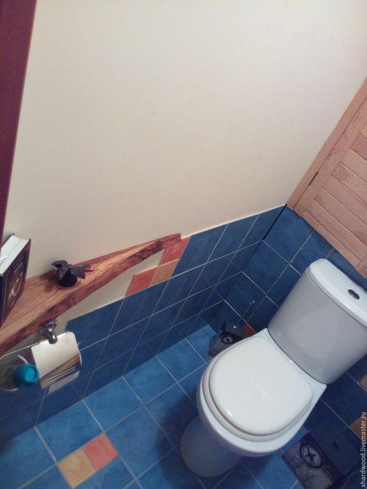 Мебель ручной работы. Ярмарка Мастеров - ручная работа. Купить Полки в туалет. Handmade. Коричневый, полки