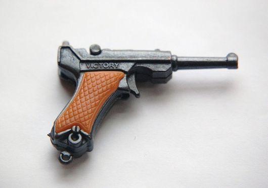 Для украшений ручной работы. Ярмарка Мастеров - ручная работа. Купить Подвеска Пистолет №2. Handmade. Пистолет, оружие