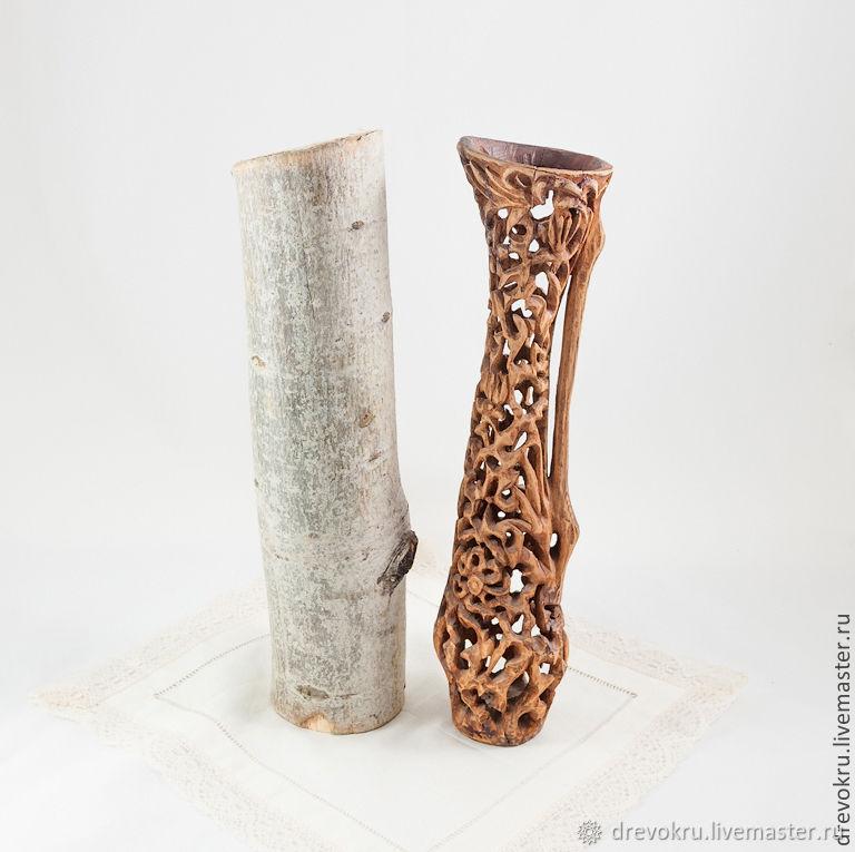 Ваза деревянная «Баядерка»