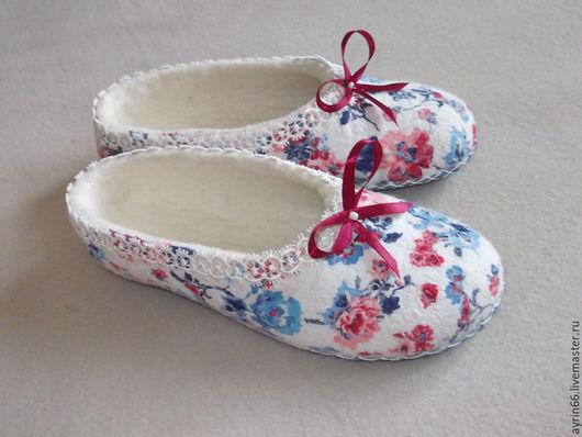 """Обувь ручной работы. Ярмарка Мастеров - ручная работа. Купить Тапочки """"Рио-рита"""". Handmade. Комбинированный, тапочки из войлока"""