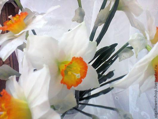 Букеты ручной работы. Ярмарка Мастеров - ручная работа. Купить Нарциссы. Handmade. Нарциссы, подарок женщине, цветы из полимерной глины