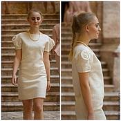 Одежда ручной работы. Ярмарка Мастеров - ручная работа Платье белое (продано). Handmade.