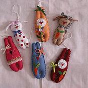 Куклы и игрушки ручной работы. Ярмарка Мастеров - ручная работа Фетровые ёлочные игрушки. Handmade.