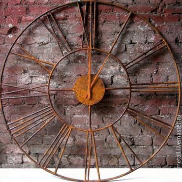 Для дома и интерьера ручной работы. Ярмарка Мастеров - ручная работа Большие настенные часы 1.5 метра, ковка. Handmade.