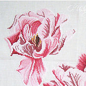 """Pictures handmade. Livemaster - original item Embroidered picture """"Dutch tulips."""". Handmade."""