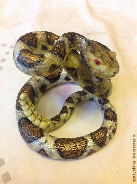 """Мыло ручной работы. Ярмарка Мастеров - ручная работа. Купить Мыло """"Гремучая змея"""". Handmade. Змея, символ года"""