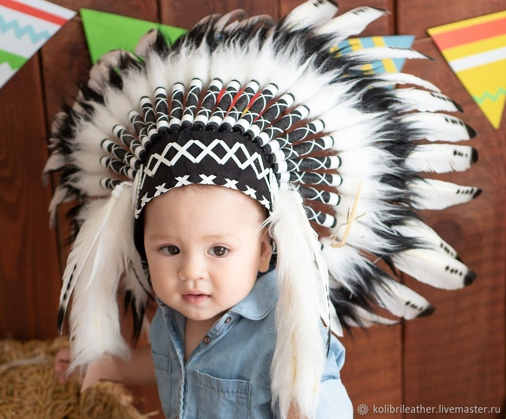 8d36deeeb23 Carnival Costumes handmade. Livemaster - handmade. Buy Indian children s hat  made of feathers.