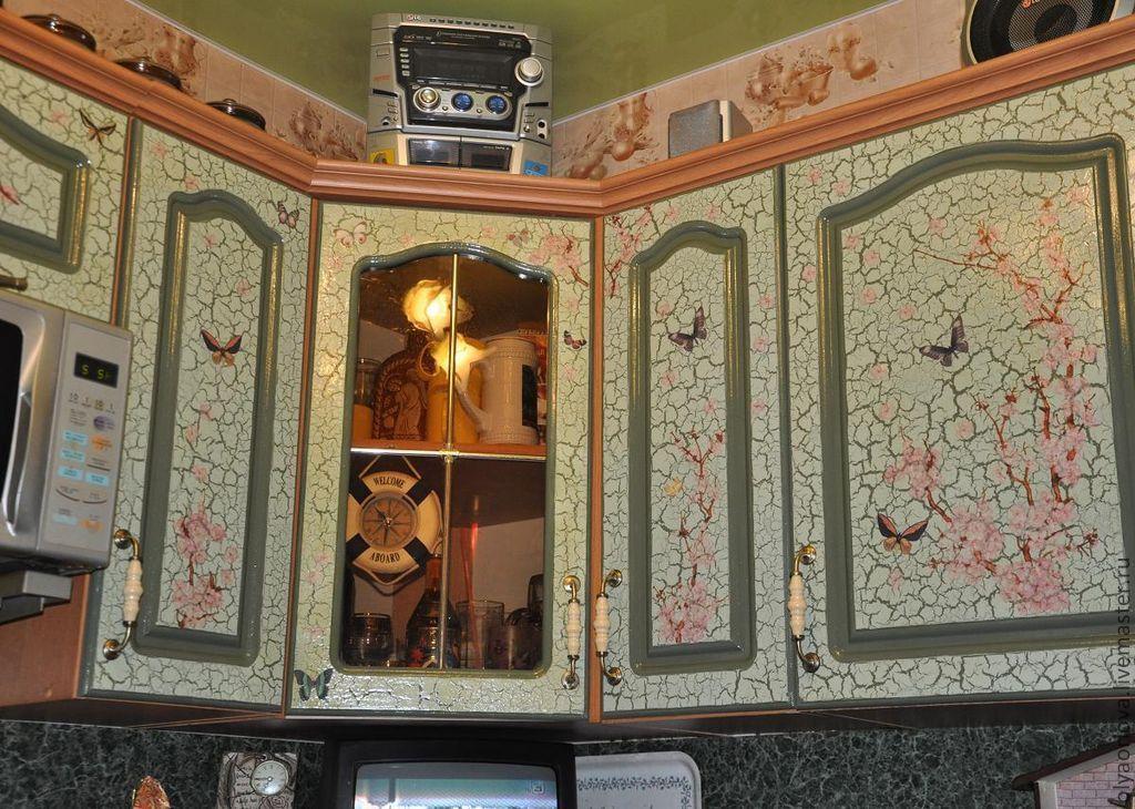 Декупаж на кухонной мебели мастер