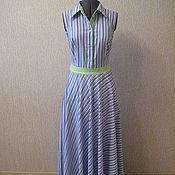 Одежда ручной работы. Ярмарка Мастеров - ручная работа Платье-рубашка в полоску. Handmade.