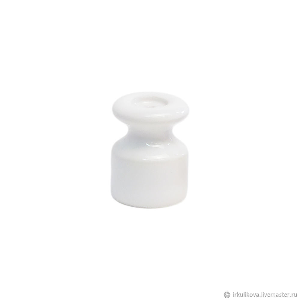 Изолятор керамический 19х24 мм,белый, Дизайн, Москва,  Фото №1