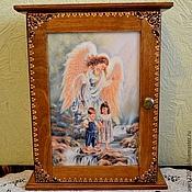 """Для дома и интерьера ручной работы. Ярмарка Мастеров - ручная работа Ключница """"Благословение ангела"""". Handmade."""