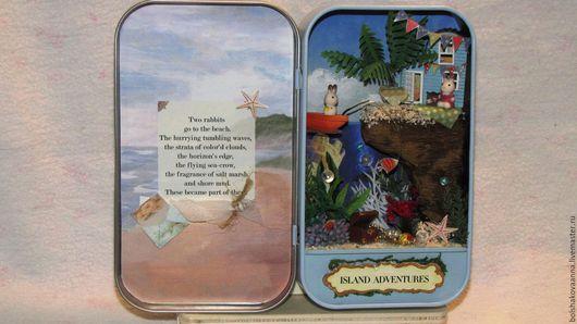 Миниатюрные модели ручной работы. Ярмарка Мастеров - ручная работа. Купить Домик у моря. Handmade. Синий, свадьба, детям