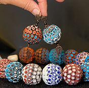 Колье чокер и серьги шарики, 8 марта украшение из коллекции Африка