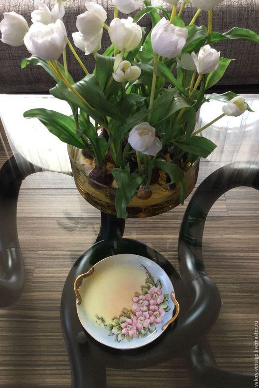 Винтажная посуда. Ярмарка Мастеров - ручная работа. Купить Фарфоровая тарелка с ручками Limoges, France, GDA.. Handmade. Комбинированный, блошка
