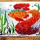 Panels glass fusing 'goldfish', Stained glass, Odessa,  Фото №1