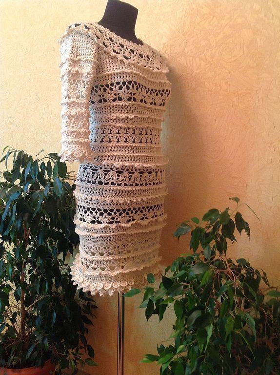 """Платья ручной работы. Ярмарка Мастеров - ручная работа. Купить Платье """"Бизе рюш"""". Handmade. Белый, Платье нарядное"""