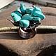 Кольца ручной работы. Кольцо из меди «Цвет бирюзы» (color turquoise). Своя История. Интернет-магазин Ярмарка Мастеров.