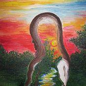 Картины ручной работы. Ярмарка Мастеров - ручная работа Картина: Источник. Handmade.
