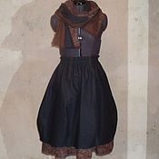 Одежда ручной работы. Ярмарка Мастеров - ручная работа №153.1 Льняная юбка бохо. Handmade.