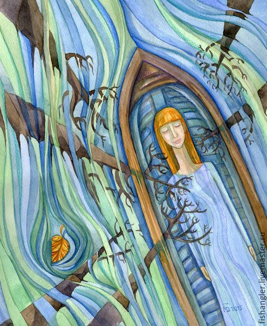 Фантазийные сюжеты ручной работы. Ярмарка Мастеров - ручная работа. Купить Плывущая по небу.... Handmade. Вода, жизнь, Тишина, подарок