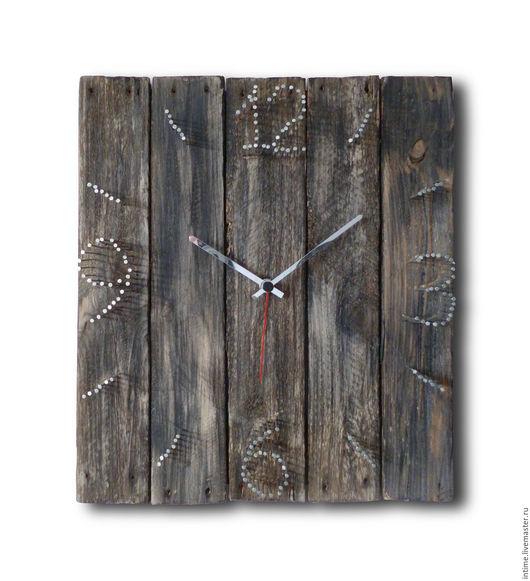 Часы для дома ручной работы. Ярмарка Мастеров - ручная работа. Купить Часы настенные. Handmade. Темно-серый, авторские часы